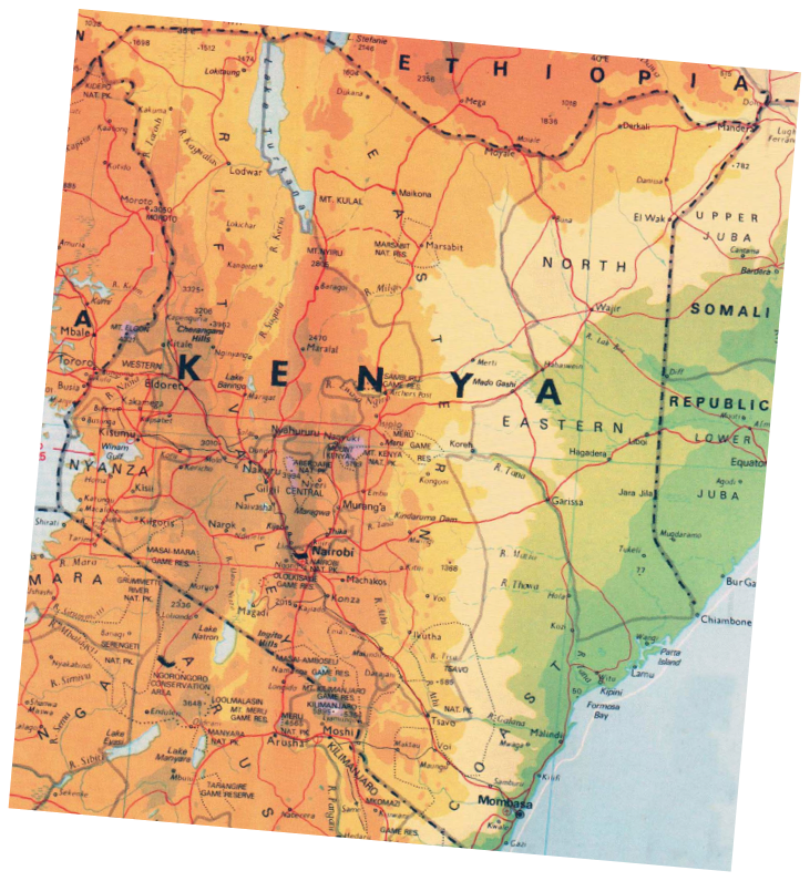 Malindi Cartina Geografica.In Viaggio Sulla Strada